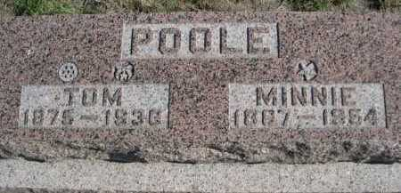 POOLE, MINNIE - Dawes County, Nebraska | MINNIE POOLE - Nebraska Gravestone Photos
