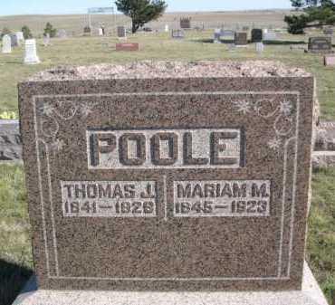 POOLE, MARIAM M. - Dawes County, Nebraska | MARIAM M. POOLE - Nebraska Gravestone Photos