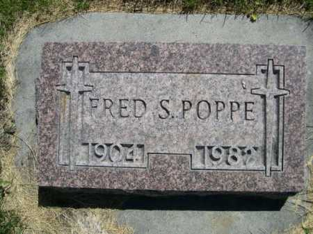 POPPE, FRED S. - Dawes County, Nebraska | FRED S. POPPE - Nebraska Gravestone Photos