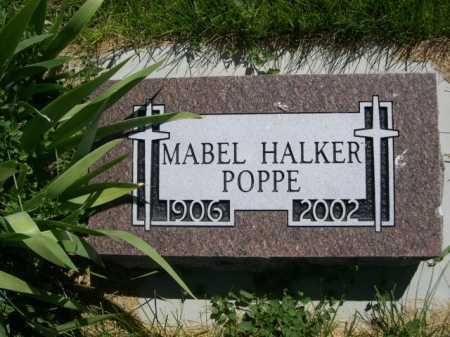 HALKER POPPE, MABEL - Dawes County, Nebraska | MABEL HALKER POPPE - Nebraska Gravestone Photos
