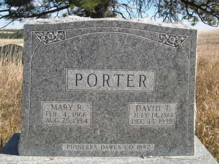 PORTER, DAVID T. - Dawes County, Nebraska | DAVID T. PORTER - Nebraska Gravestone Photos