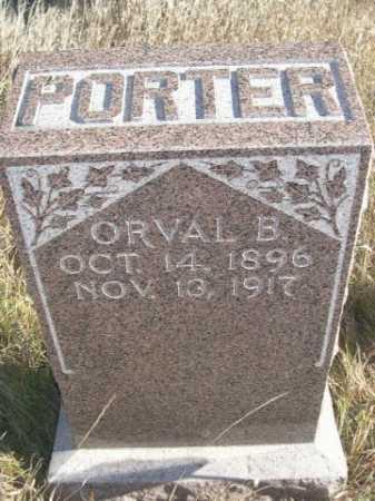 PORTER, ORVAL B. - Dawes County, Nebraska | ORVAL B. PORTER - Nebraska Gravestone Photos