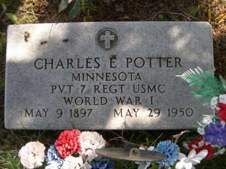 POTTER, CHARLES E. - Dawes County, Nebraska | CHARLES E. POTTER - Nebraska Gravestone Photos
