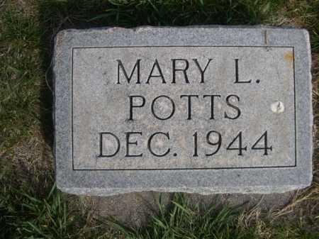 POTTS, MARY L. - Dawes County, Nebraska | MARY L. POTTS - Nebraska Gravestone Photos