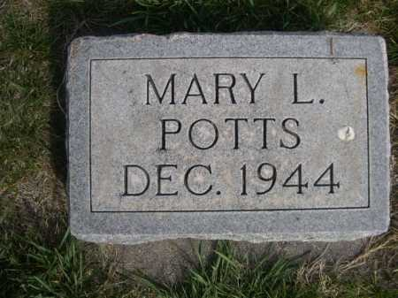 POTTS, MARY L. - Dawes County, Nebraska | MARY L. POTTS - Nebraska Gravestone Photos