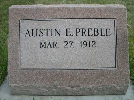 PREBLE, AUSTIN E. - Dawes County, Nebraska | AUSTIN E. PREBLE - Nebraska Gravestone Photos