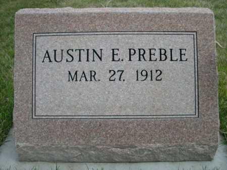 PREBLE, AUSTIN E. - Dawes County, Nebraska   AUSTIN E. PREBLE - Nebraska Gravestone Photos