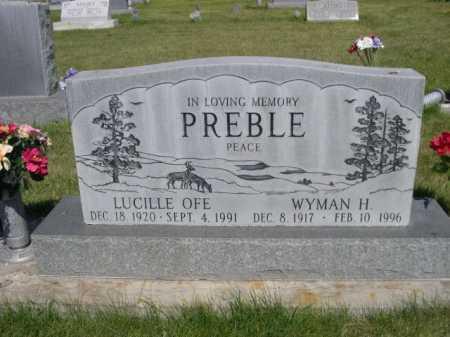 PREBLE, WYMAN H. - Dawes County, Nebraska | WYMAN H. PREBLE - Nebraska Gravestone Photos