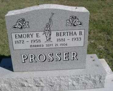 PROSSER, BERTHA B. - Dawes County, Nebraska | BERTHA B. PROSSER - Nebraska Gravestone Photos