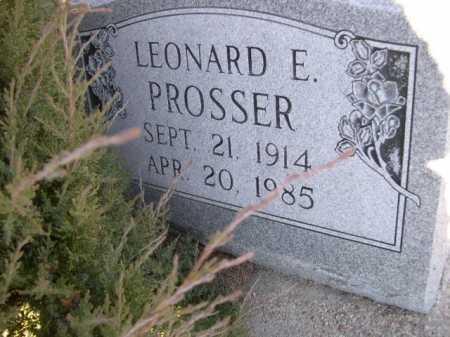 PROSSER, LEONARD E. - Dawes County, Nebraska | LEONARD E. PROSSER - Nebraska Gravestone Photos