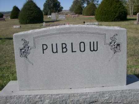 PUBLOW, FAMILY - Dawes County, Nebraska | FAMILY PUBLOW - Nebraska Gravestone Photos