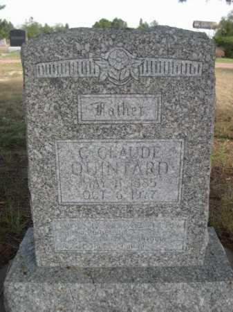 QUINTARD, C. CLAUD - Dawes County, Nebraska   C. CLAUD QUINTARD - Nebraska Gravestone Photos