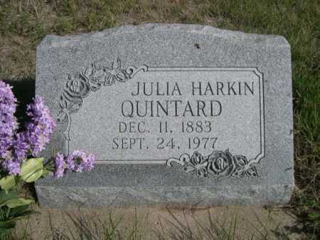 HARKIN QUINTARD, JULIA - Dawes County, Nebraska | JULIA HARKIN QUINTARD - Nebraska Gravestone Photos