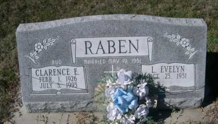 "RABEN, CLARENCE E. ""BUD"" - Dawes County, Nebraska | CLARENCE E. ""BUD"" RABEN - Nebraska Gravestone Photos"