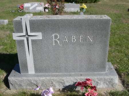 RABEN, FAMILY - Dawes County, Nebraska   FAMILY RABEN - Nebraska Gravestone Photos