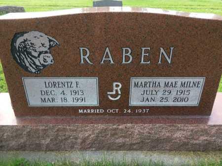 RABEN, MARTHA MAE MILNE - Dawes County, Nebraska   MARTHA MAE MILNE RABEN - Nebraska Gravestone Photos
