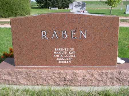 RABEN, LORENTZ & MARTHA - Dawes County, Nebraska | LORENTZ & MARTHA RABEN - Nebraska Gravestone Photos