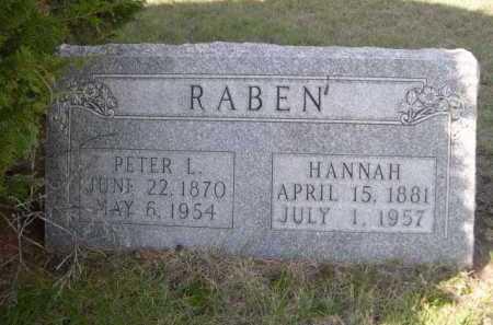 RABEN, PETER L. - Dawes County, Nebraska | PETER L. RABEN - Nebraska Gravestone Photos