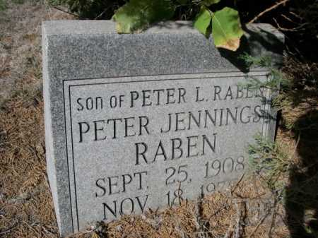 RABEN, PETER JENNINGS - Dawes County, Nebraska | PETER JENNINGS RABEN - Nebraska Gravestone Photos