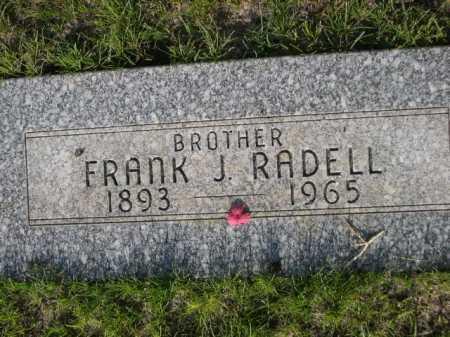 RADELL, FRANK J. - Dawes County, Nebraska | FRANK J. RADELL - Nebraska Gravestone Photos