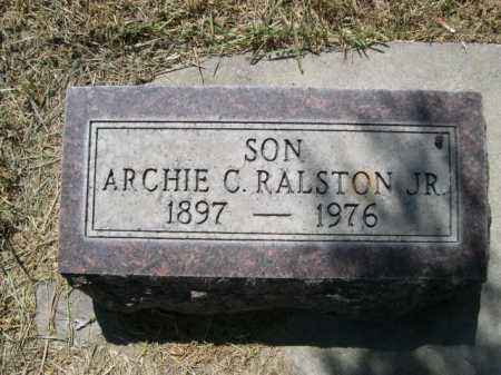 RALSTON, ARCHIE C. JR. - Dawes County, Nebraska   ARCHIE C. JR. RALSTON - Nebraska Gravestone Photos