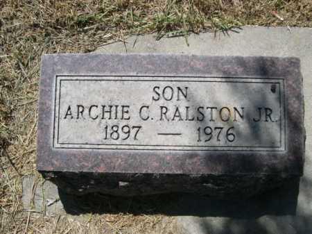 RALSTON, ARCHIE C. JR. - Dawes County, Nebraska | ARCHIE C. JR. RALSTON - Nebraska Gravestone Photos