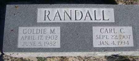 RANDALL, GOLDIE M. - Dawes County, Nebraska   GOLDIE M. RANDALL - Nebraska Gravestone Photos