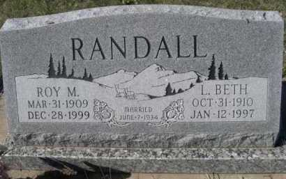 RANDALL, L. BETH - Dawes County, Nebraska   L. BETH RANDALL - Nebraska Gravestone Photos