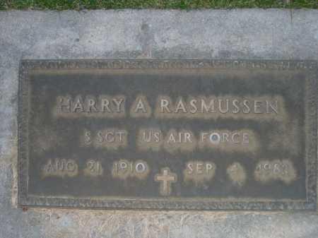 RASMUSSEN, HARRY A - Dawes County, Nebraska | HARRY A RASMUSSEN - Nebraska Gravestone Photos