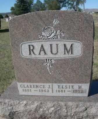 RAUM, ELSIE M. - Dawes County, Nebraska   ELSIE M. RAUM - Nebraska Gravestone Photos