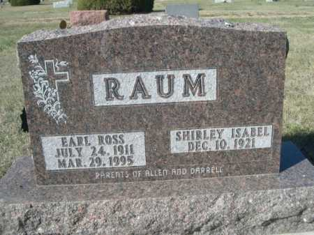 RAUM, EARL ROSS - Dawes County, Nebraska | EARL ROSS RAUM - Nebraska Gravestone Photos