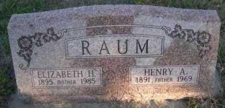 RAUM, ELIZABETH H. - Dawes County, Nebraska | ELIZABETH H. RAUM - Nebraska Gravestone Photos