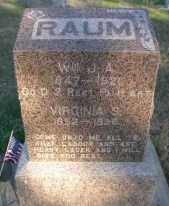RAUM, WM. J. A. - Dawes County, Nebraska | WM. J. A. RAUM - Nebraska Gravestone Photos