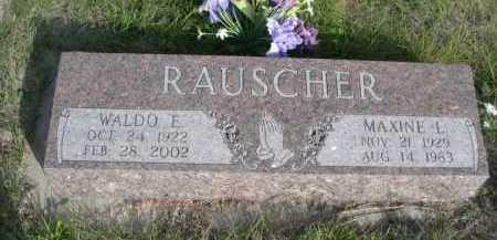 RAUSCHEER, MAXINE L. - Dawes County, Nebraska | MAXINE L. RAUSCHEER - Nebraska Gravestone Photos