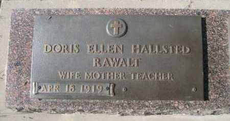HALLSTED RAWALT, DORIS ELLEN - Dawes County, Nebraska | DORIS ELLEN HALLSTED RAWALT - Nebraska Gravestone Photos