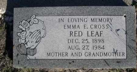 RED LEAF, EMMA E. - Dawes County, Nebraska | EMMA E. RED LEAF - Nebraska Gravestone Photos