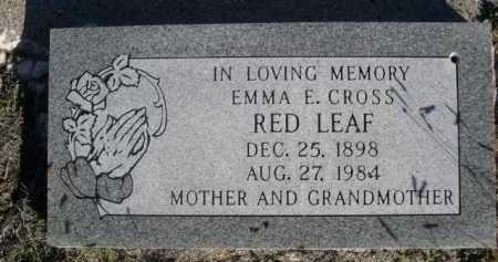 RED LEAF, EMMA E. - Dawes County, Nebraska | EMMA E. RED LEAF - Nebraska Gravestone Photos