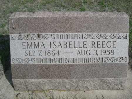 REECE, EMMA ISABELLE - Dawes County, Nebraska | EMMA ISABELLE REECE - Nebraska Gravestone Photos
