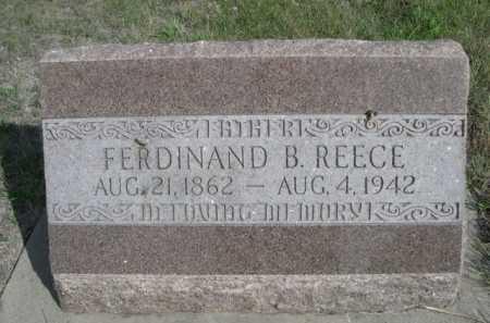 REECE, FERDINAND B. - Dawes County, Nebraska | FERDINAND B. REECE - Nebraska Gravestone Photos