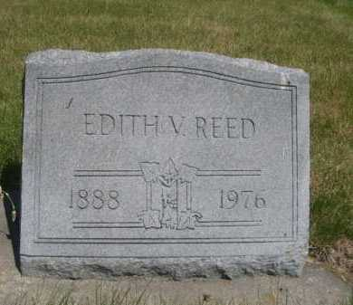 REED, EDITH V. - Dawes County, Nebraska   EDITH V. REED - Nebraska Gravestone Photos