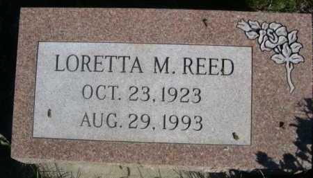 REED, LORETTA M. - Dawes County, Nebraska | LORETTA M. REED - Nebraska Gravestone Photos