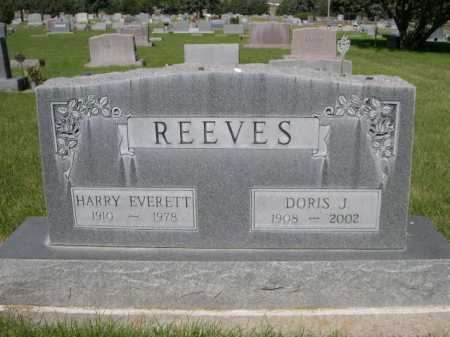 REEVES, HARRY EVERETT - Dawes County, Nebraska   HARRY EVERETT REEVES - Nebraska Gravestone Photos