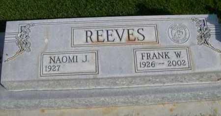 REEVES, FRANK W. - Dawes County, Nebraska | FRANK W. REEVES - Nebraska Gravestone Photos