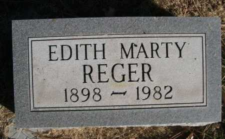 REGER, EDITH MARTY - Dawes County, Nebraska   EDITH MARTY REGER - Nebraska Gravestone Photos
