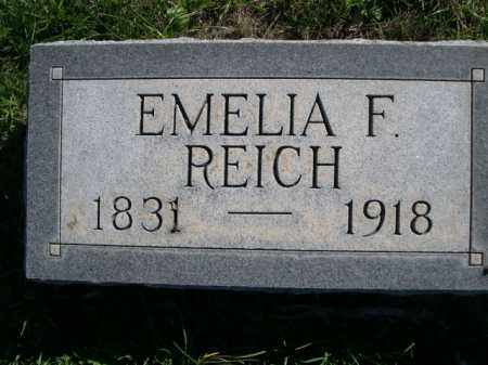 REICH, EMELIA F. - Dawes County, Nebraska | EMELIA F. REICH - Nebraska Gravestone Photos