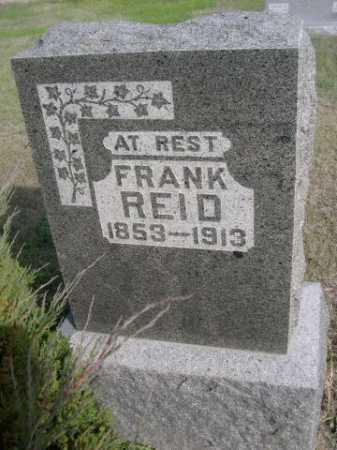 REID, FRANK - Dawes County, Nebraska | FRANK REID - Nebraska Gravestone Photos