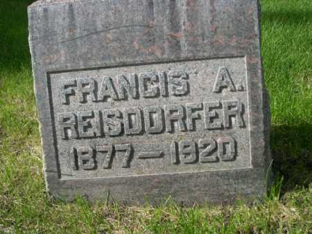 REISDORFER, FRANCIS A. - Dawes County, Nebraska | FRANCIS A. REISDORFER - Nebraska Gravestone Photos