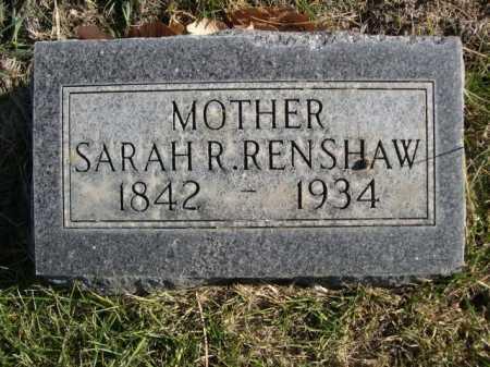 RENSHAW, SARAH R. - Dawes County, Nebraska | SARAH R. RENSHAW - Nebraska Gravestone Photos
