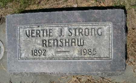 STRONG RENSHAW, VERTIE J. - Dawes County, Nebraska | VERTIE J. STRONG RENSHAW - Nebraska Gravestone Photos