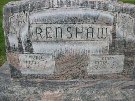 RENSHAW, MARY G. - Dawes County, Nebraska | MARY G. RENSHAW - Nebraska Gravestone Photos